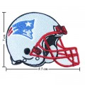 New England Patriots Helmet Style-1 Embroidered Iron On Patch