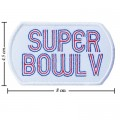 Super Bowl V 1970 Style-5 Embroidered Iron On Patch