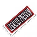 Legalize Freedom Style-1 Embroidered Iron On Patch