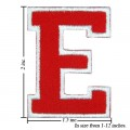 Alphabet E Style-2 Embroidered Iron On Patch