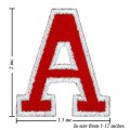 Alphabet A Style-2 Embroidered Iron On Patch
