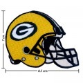 Green Bay Packers Helmet Style-1 Embroidered Iron On Patch