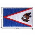 American Samoa Nation Flag Style-1 Embroidered Iron On Patch