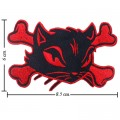 Cat On Crossbones Sign Style-1 Embroidered Iron On Patch
