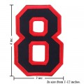 Number 8 Style 1 Embroidered Iron On Patch