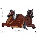 Horse Cowboy Style-5 Embroidered Iron On Patch