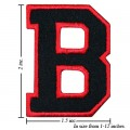 Alphabet B Style-1 Embroidered Iron On Patch
