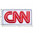 CNN Cable News Network Style-1 Embroidered Iron On Patch
