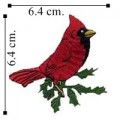 Cardinal Style-1 Embroidered Iron On Patch