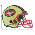 San Francisco 49ers Helmet Style-1 Embroidered Iron On Patch