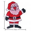 Santa Christmas Cartoon Embroidered Iron On Patch