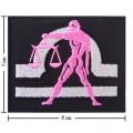 Roman Zodiac Libra Embroidered Iron On Patch