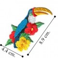 Toucan Style-2 Embroidered Iron On Patch