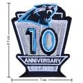 Carolina Panthers Anniversary Style-1 Embroidered Iron On Patch