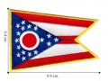 Ohio State Flag Embroidered Iron On Patch