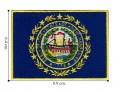 New Hampshire State Flag Embroidered Iron On Patch