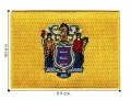 New Jersey State Flag Embroidered Iron On Patch