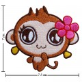 Cartoon CiCi Monkey Embroidered Iron On Patch