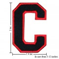 Alphabet C Style-1 Embroidered Iron On Patch