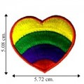 Rainbow Heart Embroidered Iron On Patch