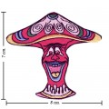 Colorful Magic Mushroom Sign Style-11 Embroidered Iron On Patch