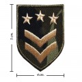 US Army Stripe Style-2 Embroidered Iron On Patch