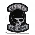 Harley Davidson Spike Patches Embroidered Iron On Patch