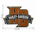 Harley Davidson H-D Monogram Embroidered Iron On Patch