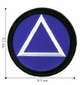 Alcoholics Anonymous Embroidered Iron On Patch