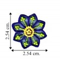 Blue Chiffon Flower Style-6 Embroidered Sew On Patch