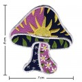 Colorful Magic Mushroom Sign Style-6 Embroidered Iron On Patch