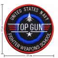 Gaint TopGun Fighter Weapon School Embroidered Iron On Patch