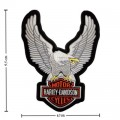 Harley Davidson Upwing Eagle Silver Patches Embroidered Iron On Patch