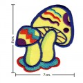 Colorful Magic Mushroom Sign Style-7 Embroidered Iron On Patch