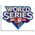 World Series 2009 Embroidered Iron On Patch