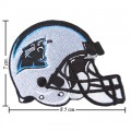 Carolina Panthers Helmet Style-1 Embroidered Iron On Patch