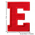 Alphabet E Style-3 Embroidered Iron On Patch