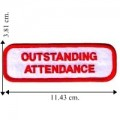 Outstanding Attendance Embroidered Iron On Patch