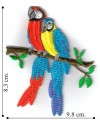 Macaw Style-2 Embroidered Iron On Patch