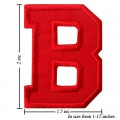 Alphabet B Style-3 Embroidered Iron On Patch