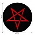 Red Pentagram Style-1 Embroidered Iron On Patch