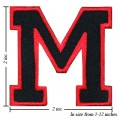 Alphabet M Style-1 Embroidered Iron On Patch
