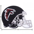 Atlanta Falcons Helmet Style-1 Embroidered Iron On Patch