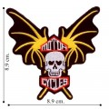 Bat Wing Motorcycle Embroidered Iron On Patch