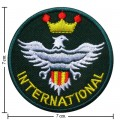 International Embroidered Iron On Patch