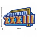Super Bowl XXXIII 1998 Style-33 Embroidered Iron On Patch