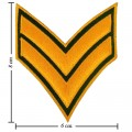 US Army Stripe Style-17 Embroidered Iron On Patch
