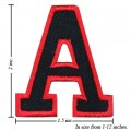 Alphabet A Style-1 Embroidered Iron On Patch