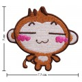 Cartoon YoYo Monkey Embroidered Iron On Patch