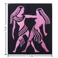 Roman Zodiac Gemini Embroidered Iron On Patch